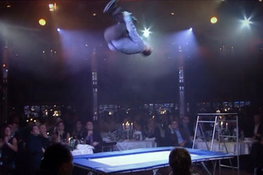 Comedy Trampoline at Dinner Show
